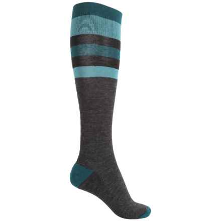 Catawba Stripes Fashion Socks - Over the Calf (For Women) in Blue - Closeouts