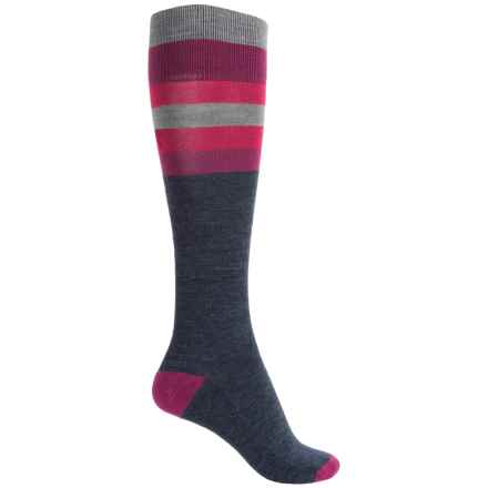 Catawba Stripes Fashion Socks - Over the Calf (For Women) in Pink - Closeouts