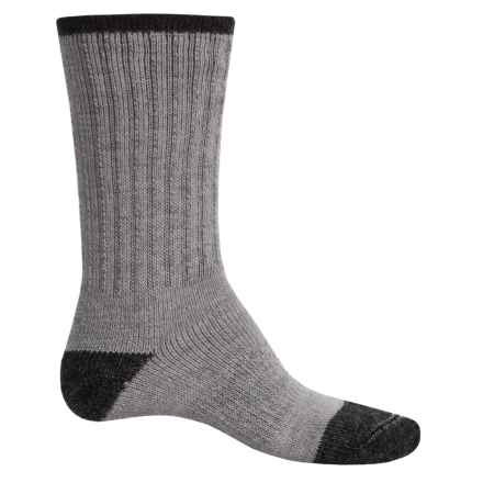 Catawba Terry Boot Socks - Crew (For Men and Women) in Charcoal/Light Grey - Closeouts
