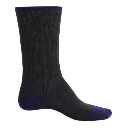 Catawba Terry Boot Socks - Crew (For Men and Women) in Royal/Black - Closeouts
