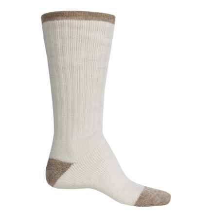 Catawba Tipped Boot Socks - Mid Calf (For Men) in Natural/Khaki - Closeouts