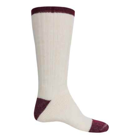 Catawba Tipped Boot Socks - Mid Calf (For Men) in Natural/Maroon - Closeouts