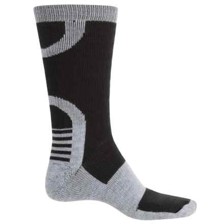 Catawba Ultimate Work Socks - Crew (For Men) in Light Heather/Black/Light Heather - Closeouts
