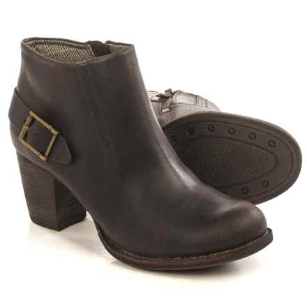 Caterpillar Annette Short Ankle Boots - Leather (For Women) in Bitter Chocolate - Closeouts