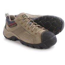 Caterpillar Argon Leather Work Shoes - Composite Toe (For Women) in Soft Grey - Closeouts