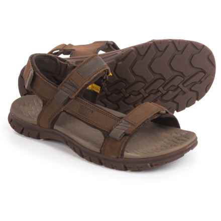 Caterpillar Atchinson Sport Sandals - Suede (For Men) in Dark Earth - Closeouts