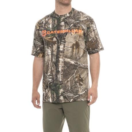 Caterpillar Block Camo Shirt - Short Sleeve (For Men) in Real Tree Extra Camo