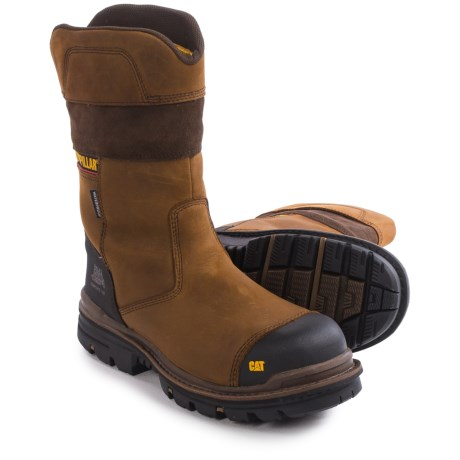 Caterpillar Bolted Work Boots Waterproof Composite Safety Toe For Men