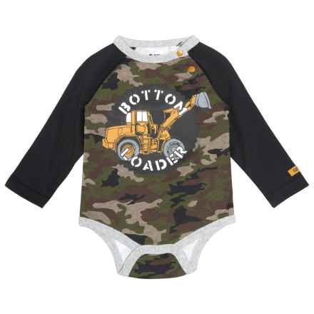 Caterpillar Bottom Loader Baby Bodysuit - Long Sleeve (For Infants) in Woodland Camo - Closeouts