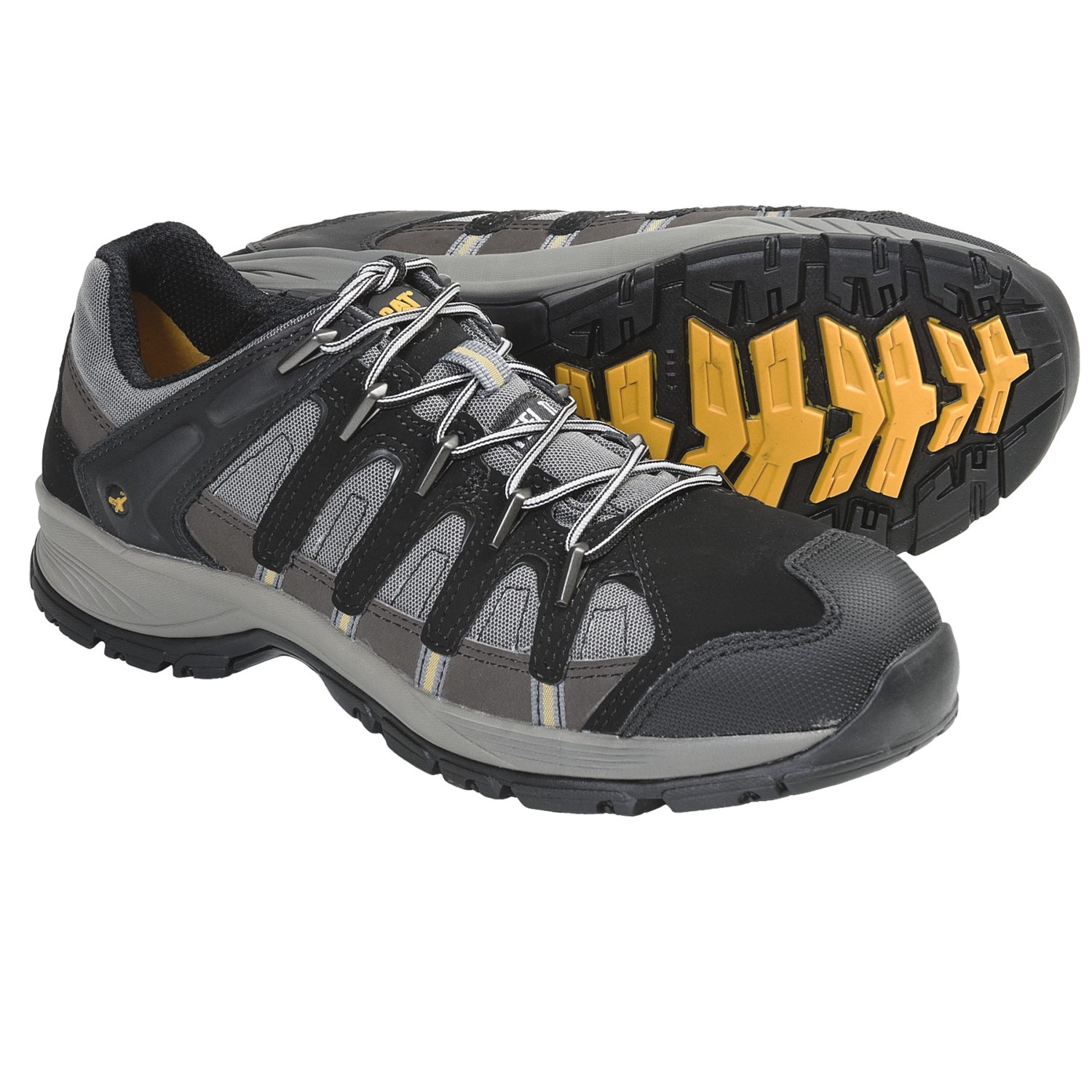 Caterpillar Cat Linchpin Shoes - Steel Toe (For Men) in Black/Pepper