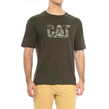 Caterpillar Cat Logo Camo Shirt - Short Sleeve (For Men) in Woodland Camo - Closeouts