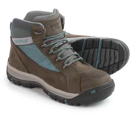 Caterpillar Champ Mid Work Boots - Steel Safety Toe (For Women) in Gull Grey - Closeouts