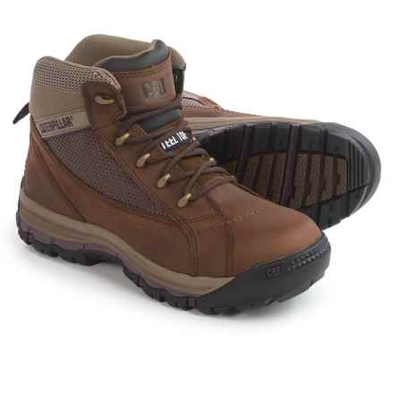 Caterpillar Champ Mid Work Boots - Steel Toe (For Women) in Brown Sugar - Closeouts