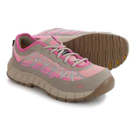 Caterpillar Connexion Work Shoes - Steel Safety Toe (For Women) in Grey/Pink - Closeouts