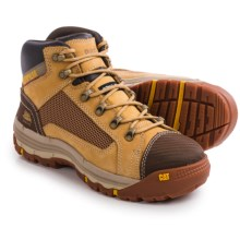 Caterpillar Convex Mid Steel Toe Work Boots - Nubuck (For Men) in Honey Reset - Closeouts