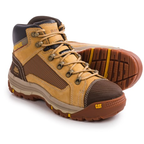 Caterpillar Convex Mid Steel Toe Work Boots Nubuck (For Men)