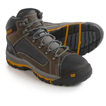 Caterpillar Convex Mid Work Boots - Steel Safety Toe (For Men) in Dark Gull Grey - Closeouts