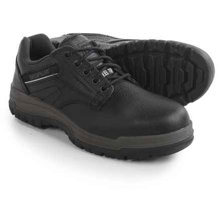 Caterpillar Dimen Work Shoes - Steel Toe, Leather (For Men) in Black - Closeouts