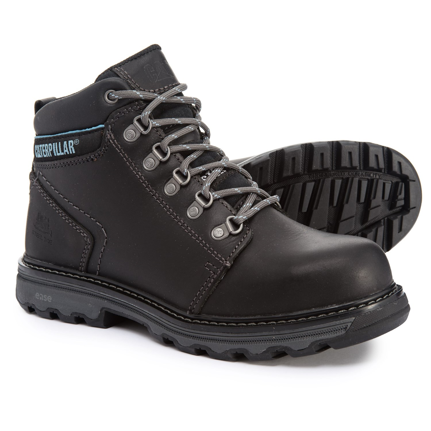 Caterpillar Ellie Work Boots Steel Safety Toe Leather For Women