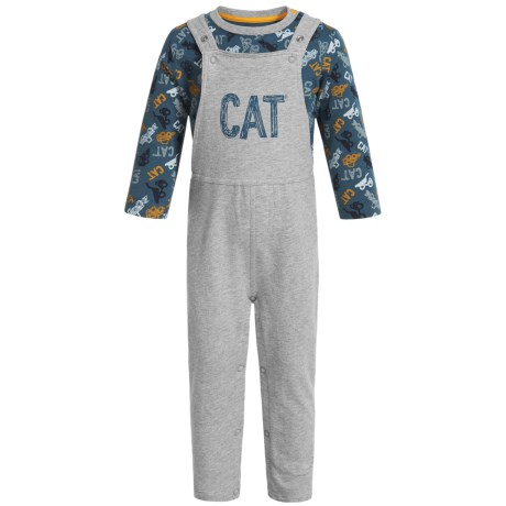 Caterpillar Equipment Overalls and Shirt Set - Long Sleeve (For Infants) in Stone Blue