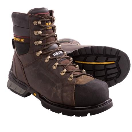 Caterpillar Excavator CSA Work Boots - Steel Toe, Insulation (For Men) in Dark Brown