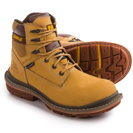 Caterpillar Fabricate Work Boots Waterproof, Leather, Composite Toe (For Men)