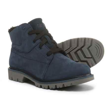 Caterpillar Fret Fur Boots - Waterproof, Nubuck (For Women) in Blue - Closeouts