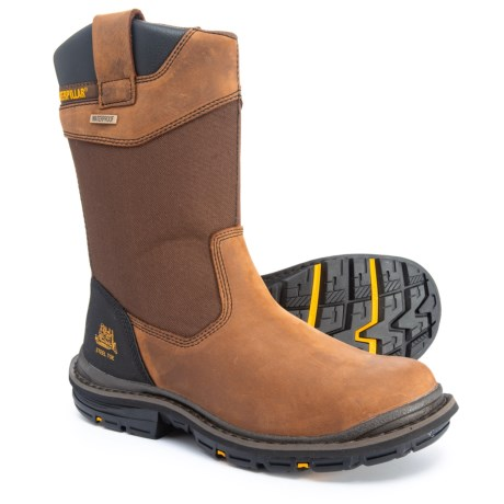 eb0644174d18 Caterpillar Grist Work Boots - Steel Safety Toe, Waterproof (For Men) in  Dark