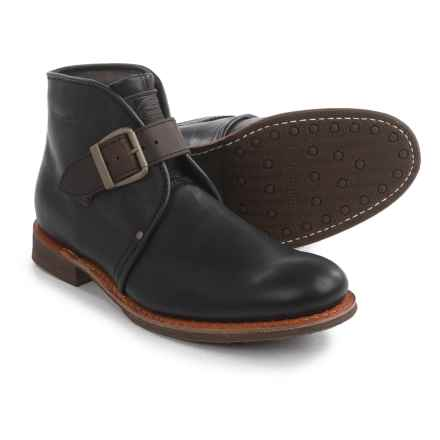 Caterpillar Haverhill Chukka Boots - Leather, Slip-Ons (For Men) in Black - Closeouts