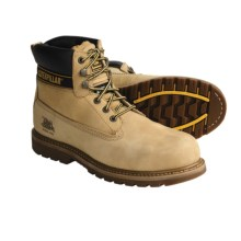 Caterpillar Holton Work Boots - Leather, Steel Toe (For Men) in Honey - Closeouts