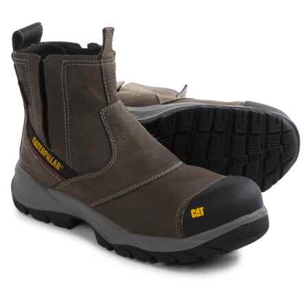 Caterpillar Jointer Leather Work Boots - Waterproof, Composite Toe (For Men) in Gull Grey - Closeouts