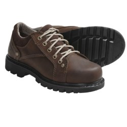 Caterpillar Lala Work Shoes - Leather (For Women) in Dark Brown