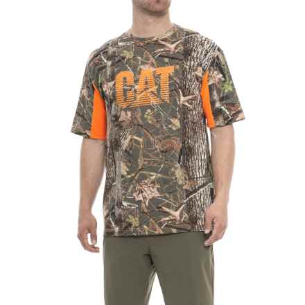 Caterpillar Logo Camo Shirt - Short Sleeve (For Men) in Camo - Closeouts