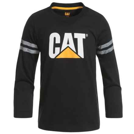 Caterpillar Logo T-Shirt - Long Sleeve (For Toddlers and Little Boys) in Black - Closeouts