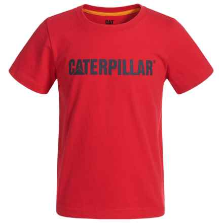 Caterpillar Logo T-Shirt - Short Sleeve (For Toddlers and Little Boys) in Tomato - Closeouts