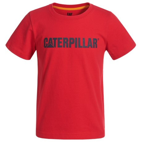 Caterpillar Logo T-Shirt - Short Sleeve (For Toddlers and Little Boys) in Tomato