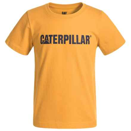 Caterpillar Logo T-Shirt - Short Sleeve (For Toddlers and Little Boys) in Yellow - Closeouts
