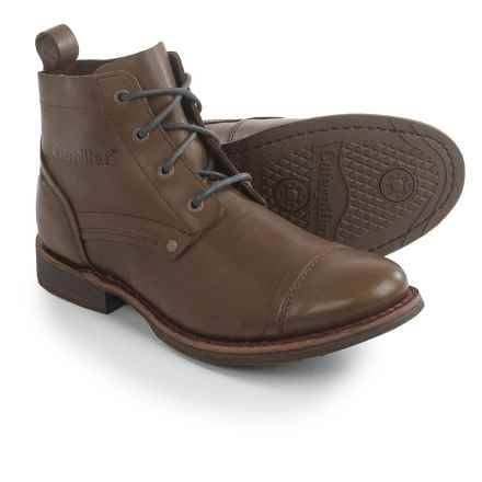 Caterpillar Morrison Boots - Leather (For Men) in Tin Pan - Closeouts