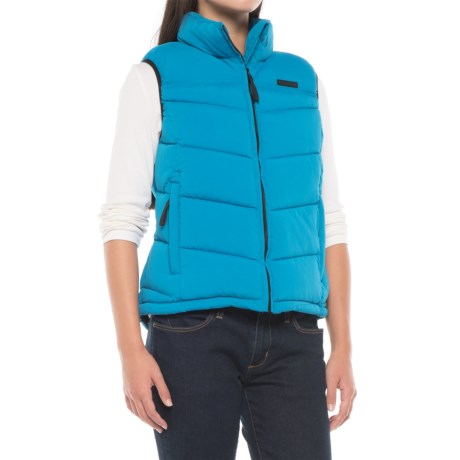 Caterpillar Quilted Vest - Insulated (For Women)