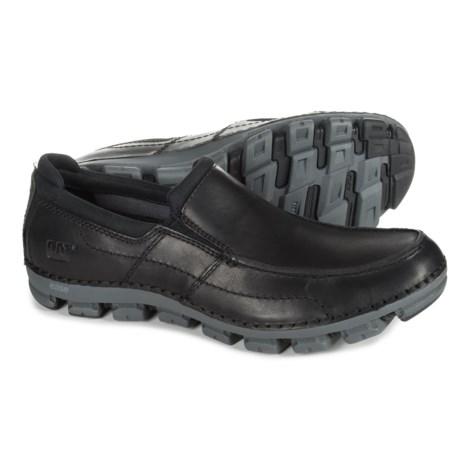 Caterpillar Relente Leather Loafers (For Men) in Black