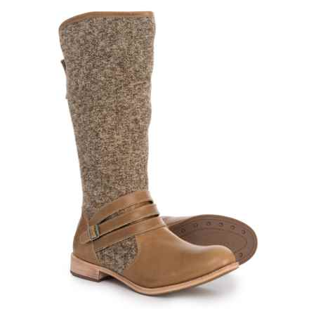 Caterpillar Sabrina Tall Boots - Wool, Leather (For Women) in Warm Sand - Closeouts