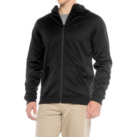 Caterpillar Shield Fleece Hoodie - Full Zip (For Men) in Black