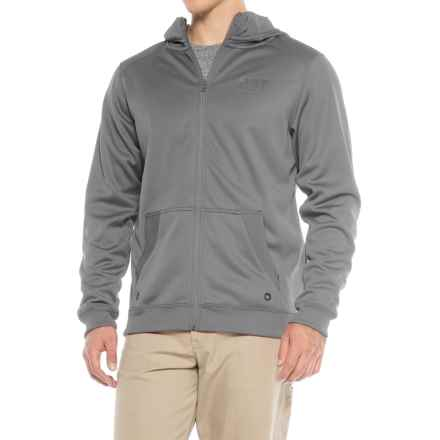 Caterpillar Shield Fleece Hoodie - Full Zip (For Men) in Grey - Closeouts