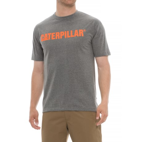 Caterpillar Standout Cat Trademark T-Shirt - Short Sleeve (For Men) in Dark Heather Grey
