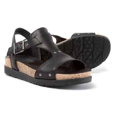 Caterpillar Tiki Leather Casual Sandals (For Women) in Black - Closeouts