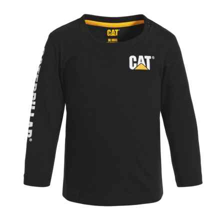 Caterpillar Trademark Banner T-Shirt - Long Sleeve (For Infants) in Black - Closeouts
