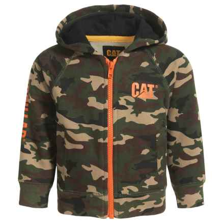 Caterpillar Trademark Banner Zip Hoodie (For Infants) in Woodland Camo - Closeouts