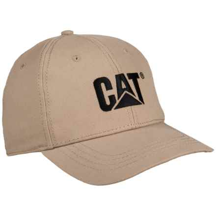 Caterpillar Trademark Baseball Cap (For Men) in Khaki - Closeouts