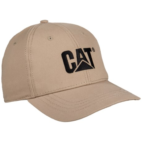 Caterpillar Trademark Baseball Cap (For Men) in Khaki