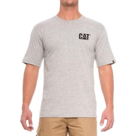 Caterpillar Trademark T-Shirt - Crew Neck, Short Sleeve (For Men) in Heather Grey